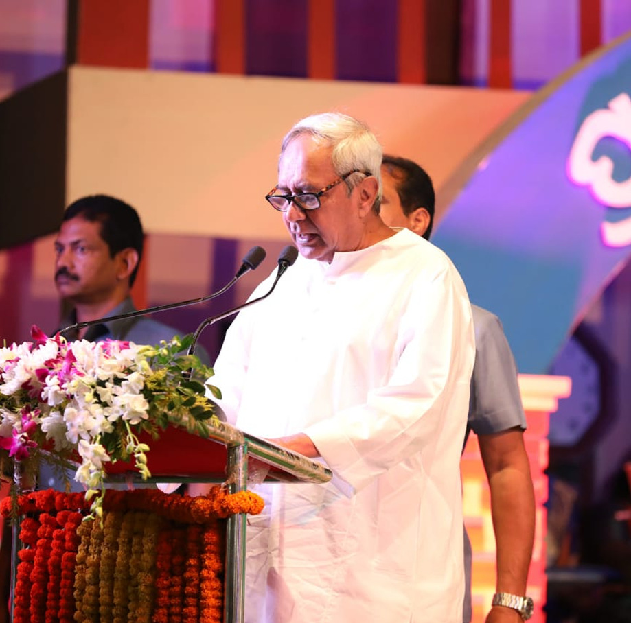 Party President and CM Naveen Patnaik speaking