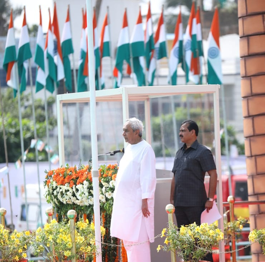 Naveen at Independence Day parade