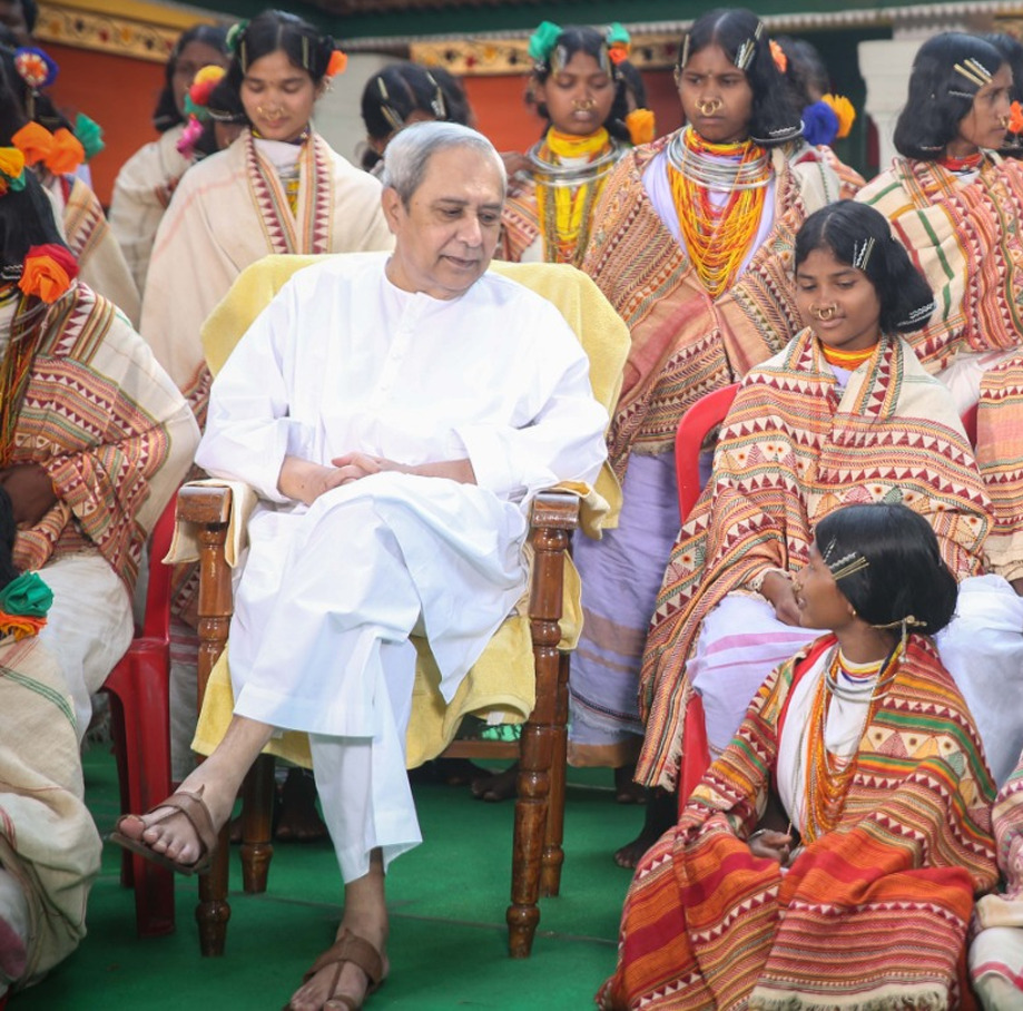 Naveen interacting with Tribal girls