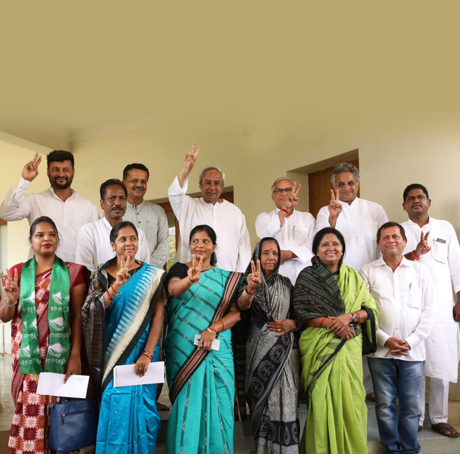 Naveen with Lok Sabha MPs